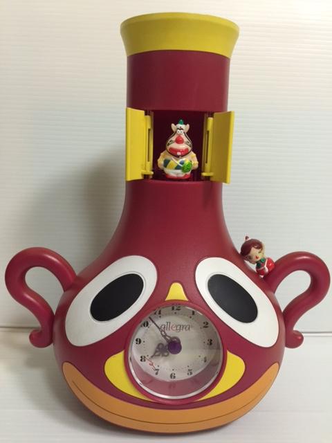 アレグラ ハクション大魔王・あくびちゃん 時計 26.3cm 当時物 版権有 企業物 現状 【TO3584】