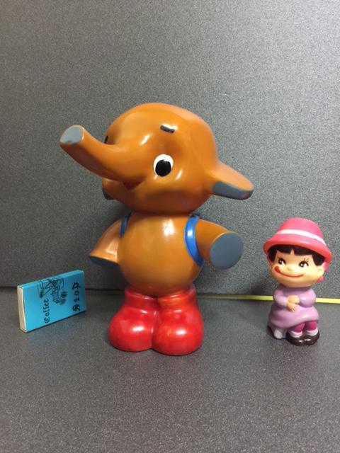 カウンター用 店頭用 サトウ製薬 サトちゃん ソフビ人形 貯金箱 18.5cm 当時物 企業物 非売品 現状 【TO3631】