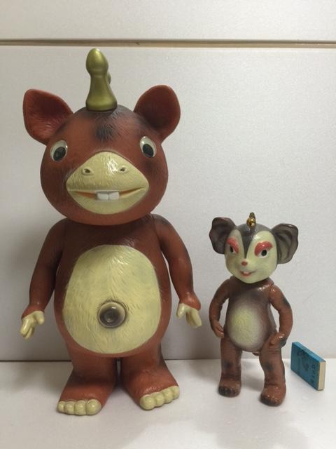 大型☆イヌクマ 快獣(怪獣)ブースカ ソフビ人形 39.3cm JAPAN 当時 現状 【TO3776】