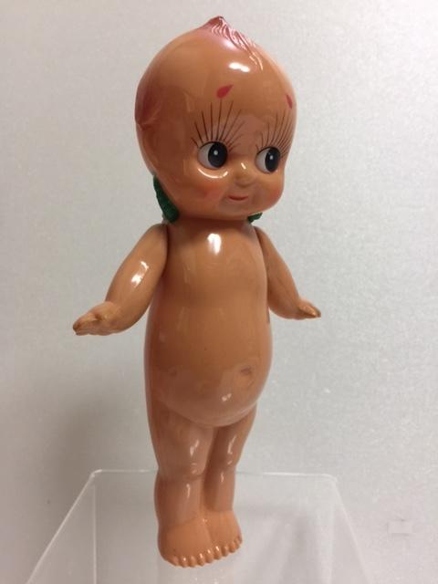 セルロイド キューピー 人形 18.2cm 当時物 JAPAN 現状 復刻版 刻印有 現状 【TO4158】