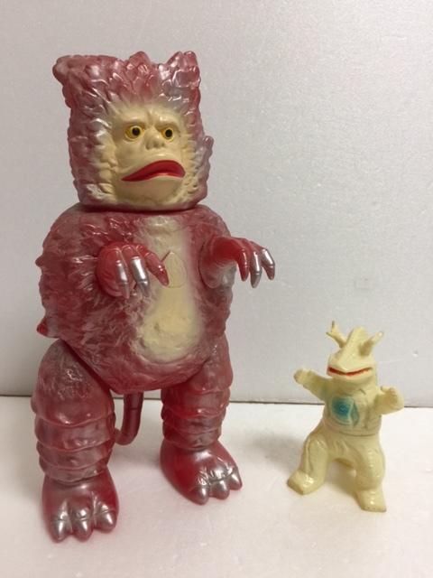 復刻版 ブルマァク 赤 ガラモン ウルトラマン ウルトラQ ソフビ人形 22.5cm 現状 【TO4186】