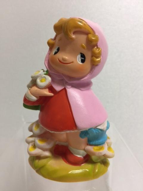 北陸銀行 あかずきん ソフビ人形 貯金箱 10.2cm 当時物 企業物 非売品 現状 【TO4263】