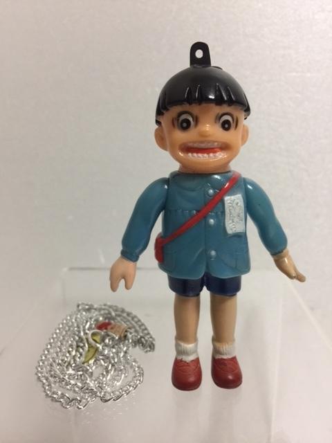 ポピー まことちゃん ソフビ人形 9.7cm 当時物 チェーン付 版権有 ウメズプロ 現状 【TO4269】