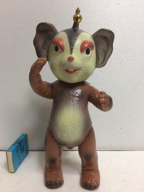 イヌクマ チャメゴン ブースカ  ソフビ人形 22.5cm JAPAN 当時 版権有 円谷プロ 現状 【TO4410】