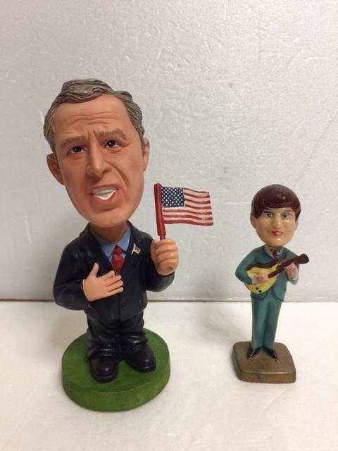 ジョージ・ブッシュ 元アメリカ大統領 首ふり 人形 14.5cm 230g 現状 詳細不明 【TO4453】