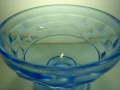 昭和レトロ プレスガラス ブルー氷コップ 【AJ0086】