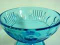 昭和レトロ プレスガラス ブルー氷コップ 【AJ0089A】