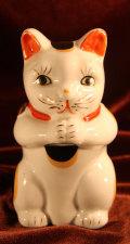 おねがい猫 陶器製 焼き物 【AJ1106】
