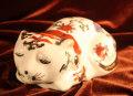 くつろぎ猫 陶器製 焼き物 【AJ1108】
