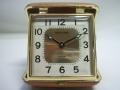東京時計 トラベルアラーム時計 手巻き 薄茶色 ♪現状です 【AJ1126】
