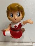 魔法使いサリー☆ソフビ人形☆貯金箱 12.3cm 版権有 アニメ JAPAN 現状 【AT0997】