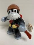 1969年☆マルサン のらくろ 二等兵 ソフビ人形 16.5cm 当時物 アニメ 現状 【AT1015】