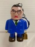 毎日新聞社☆おじさん☆松山氏☆ソフビ人形 6.0cm 当時物 企業物 非売品 現状 【AT1129】