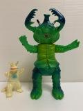 1966年当時☆ブルマァク☆アントラー☆成型色/グリーン☆ウルトラ怪獣 ソフビ人形 23.0cm 当時物 スタンダード 現状 【AT1175】