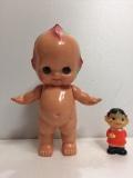 大☆オリエンタル ORIENTAL キューピー セルロイド 人形 25.0 当時物 マーク有 刻印有 現状 【AT12】
