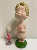 大きい☆高島屋☆ローズちゃん☆陶器製☆人形 大 26.0cm 350g 当時物 企業物 非売品 現状 【AT1205】