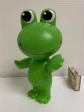 コルゲンコーワ☆ケロちゃん☆ソフビ人形 15.8cm 当時物 企業物 非売品 現状 【AT1231】
