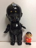 ☆希少☆中嶋製 ブラック キューピー セルロイド 人形 大 29.0 当時物 マーク刻印有 現状 【AT13】