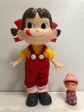 懸賞当選☆箱入 不二家 ペコちゃん ソフビ人形 大 29.3cm 企業物 現状 【AT133】