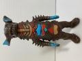 ポピー☆ギャンゴ(足型あり)☆キングザウルスシリーズ☆ソフビ人形 17.1cm 当時物 1978年 ウルトラ怪獣 JAPAN 版権有 現状【AT1353】