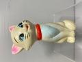 三菱銀行☆おしゃれキャット☆マリー☆ソフビ人形 貯金箱 12.7cm 当時物 企業物 非売品 現状 【AT1387】