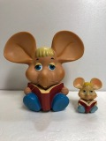 トッポジージョ ソフビ人形 貯金箱 大型 耳〜耳 25.2cm 高さ 24.5cm 版権有 現状 詳細不明 【AT140】
