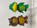 2体セット☆DC CARD カード☆キャラクター☆カッパ・たぬき ソフビ人形 7.2cm 当時物 かっぱ タヌキ 企業物 非売品 現状 【AT1501】