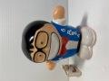 TBS☆街かどテレビ☆凡ちゃん☆ソフビ人形☆貯金箱 15.2cm 当時物 大木凡人 企業物 非売品 現状 【AT1503】