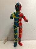 タカトク 人造人間キカイダー スタンダード ソフビ人形 28.2cm 当時物 1972年 現状 【AT176】