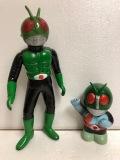 バンダイ 仮面ライダー ソフビ人形 22.0cm 当時物 版権有 現状 【AT216】