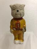 戦前・戦後☆のらくろ 上等兵 陶器製 人形 9.5cm 40g 当時物 JAPAN製 現状 詳細不明 田河水泡  【AT228】