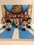 5体セット☆台付☆ドリフ大爆笑 ドリフターズ フィギュア 人形 7.0cm 版権有 現状 【AT303】