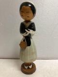 1958年☆希少☆皇后☆美智子様☆昭和レトロ☆こけし 人形 17.2cm 当時物 現状 【AT439】