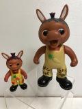 ニッコー おはよう!こどもショー ロバくん ソフビ人形 16.8cm 当時物 版権有 現状 【AT529】