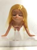 セクシー☆美しい☆ヌード☆裸☆女性 ポーズ ソフビ人形 長さ 13.5cm 当時物 現状 詳細不明 【AT742】