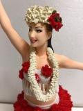 大きい!リアル顔☆セクシー☆ハワイアン☆女性☆人形 25.5cm フィギュア フラガール ヌード 裸 当時物 現状 【AT750】