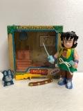 1986年☆箱入☆エポック ドラゴンボール ヤムチャ ソフビ人形 箱 たて17.4cm 初期放映当時物 版権有 現状 【AT755】