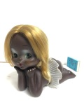 セクシー☆日焼け☆女の子☆セクシー☆ポーズ ソフビ人形 大 長さ 17.5cm 当時物 現状 【AT805】