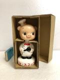 箱入☆エースコック☆ブタさん 陶器製 首ふり 人形 14.1cm JAPAN 企業 現状 【AT849】