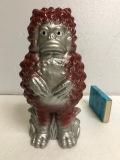 赤色☆ガラモン ウルトラマン ウルトラQ 陶器製 人形 貯金箱 15.2cm 210g 版権有 現状 詳細不明 【AT852】