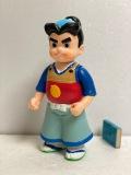 ニッセイ☆赤胴鈴之助☆ソフビ人形 大 23.5cm 当時物 アニメ 版権有 JAPAN 現状 【AT878】
