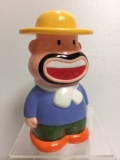 明治製菓 カールおじさん ソフビ人形 貯金箱 15.6cm 当時物 企業物 非売品 現状 【AT88】