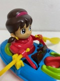 ひみつのアッコちゃん☆ボート☆人形 長さ 16.0cm 125g アニメ 版権有 現状 【AT903】