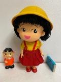 大☆タカラ☆ちびまる子ちゃん☆ソフビ人形☆24.2cm 185g 初期放映当時 版権有 JAPAN 現状 【AT906】