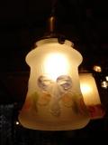 アンティーク ガラスランプシェード ローズ(薔薇)&リボン [AW0615]