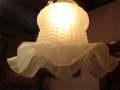 アンティーク サテンガラスのフリル ランプシェード [AW0709]
