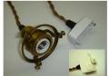 引掛シーリング付き灯具 アンティークスタイル ツイストコード [HS209A]