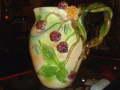 アメリカ 現代作家 陶器製 クランベリーのピッチャー 【NW0002】