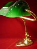 イギリス輸入ランプ グリーンの被せガラス 真鍮製 ピアノランプ 【NW0023】