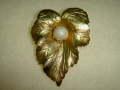 ヴィンテージ コスチュームジュエリー サラ・コヴェントリーの 葉っぱモチーフブローチ 【NW0187】
